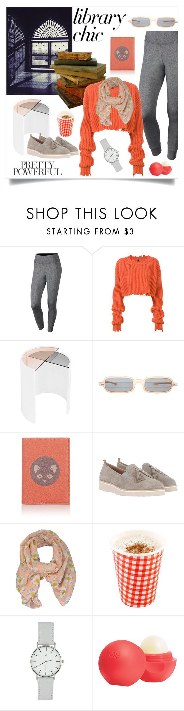 """""""Study Session: Library Chic"""" by freida-adams ❤ liked on Polyvore featuring NIKE, Unravel, Bower, Homers, LA77 and Eos"""