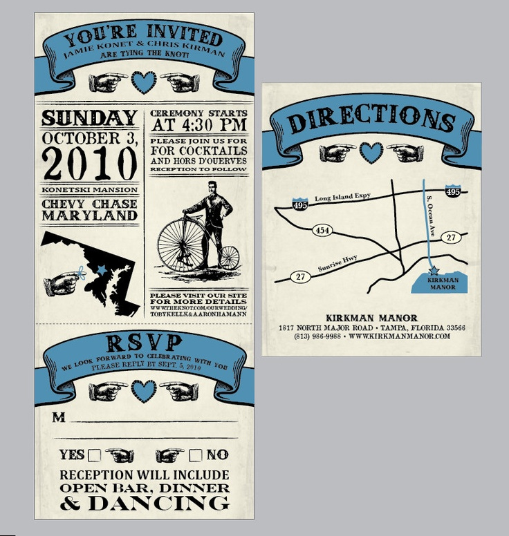 Vintage Antique Victorian Movie Ticket Wedding Invitation Set With Tear Off Rsvp Card Matching Address Labels