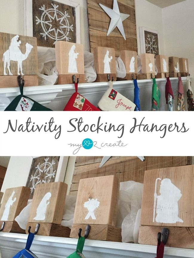 Build Your Own Easy Diy Nativity Stocking Hangers Free