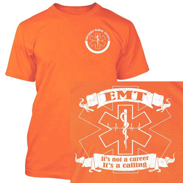 EMT Shirt Front Back EMS Paramedic Medic Emergency Medical Services Technician | eBay