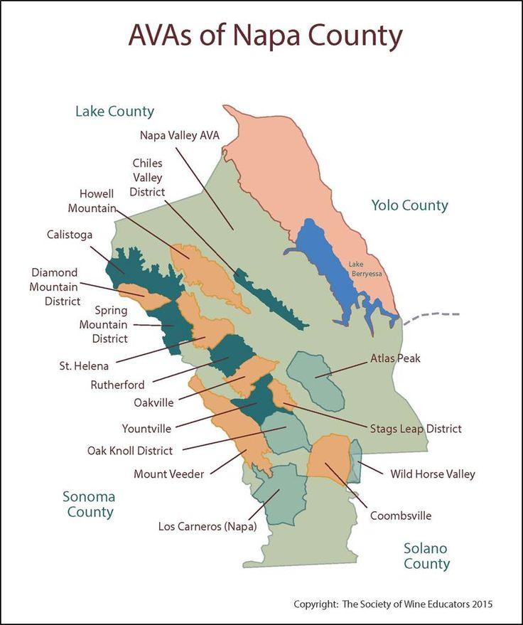 Wine Regions of Napa #wine #wineeducation
