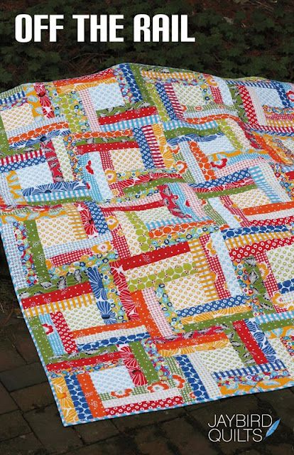 Off the Rail Quilt Pattern. cute scrappy pattern
