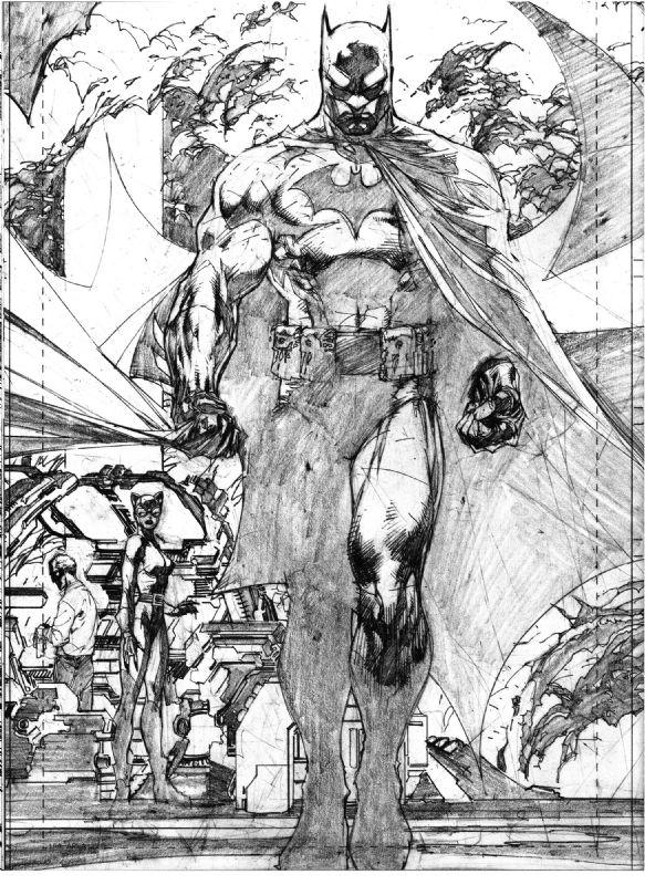Batman (B&W) by Jim Lee