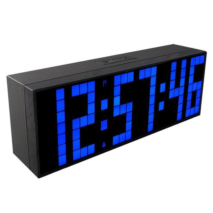 CH KOSDA  Big LED Digital Clock Countdown Timer Alarm Clock on Desktop Table Desk LivingRoom   Electronic Clocks Home Decor