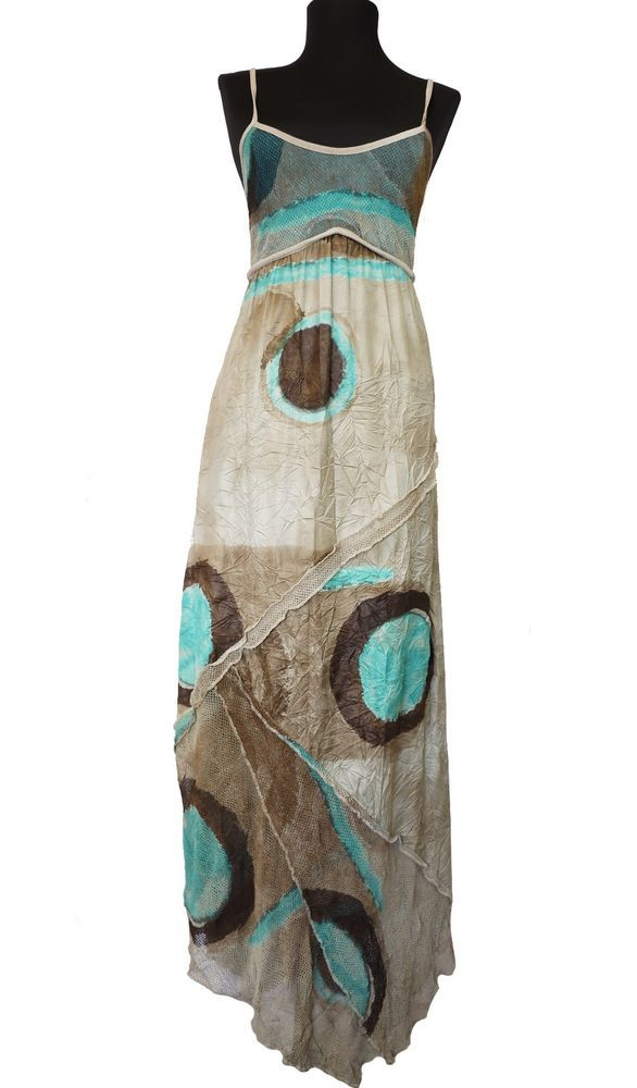 Legatte Dress Size-S Marco Fantini Save The Queen Patterned Maxi Sundress used