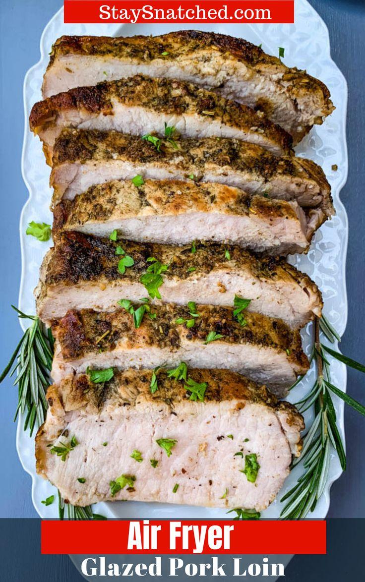 Easy, Air Fryer Italian Herb Pork Loin is a quick