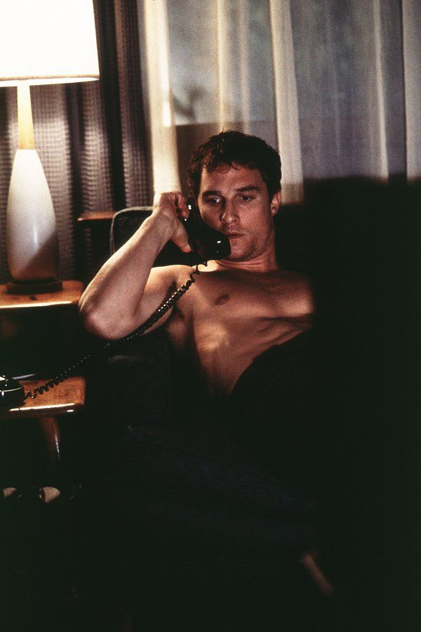 Pin for Later: Matthew McConaughey: A Career in Shirtlessness Frailty (2001) Nothing like a shirtless phone convo to get you in the mood for serial killing.