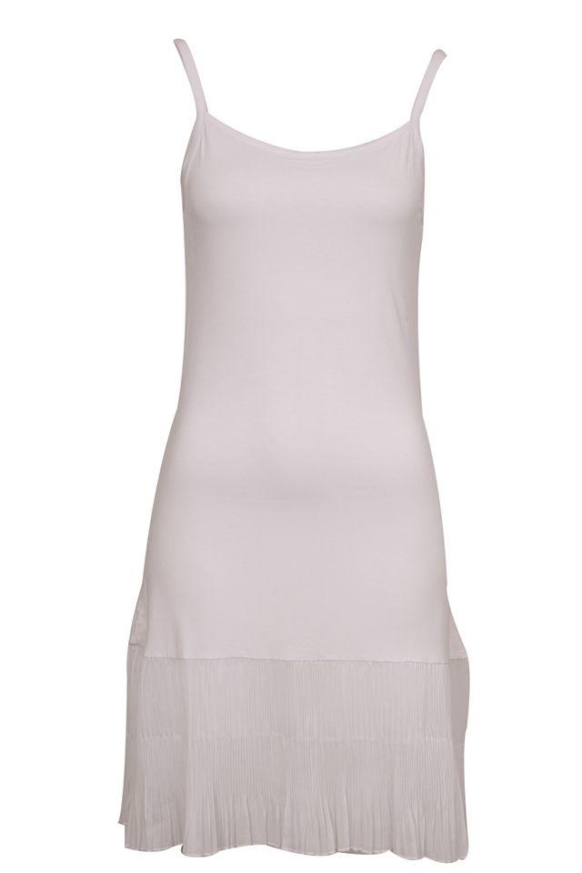 White blue sleeveless petticoat slip