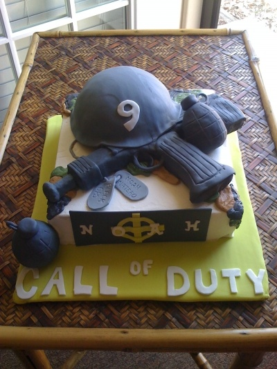 Call of Duty Black Ops cake- definately Brandon...lol