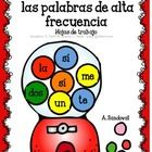 Each page has 5 high frequency words in Spanish.  Students need to identify and color according to the directions.  This is a fun way to build auto...