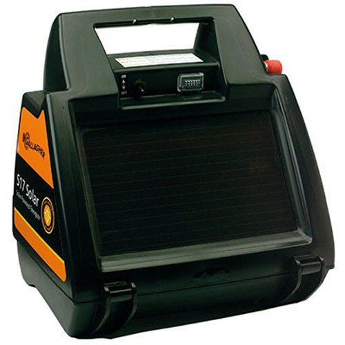 Gallagher G344404 S17 6-volt Solar Fencer, 10 Acre/1-Mile > Powers up to 10 acres/1 mile of multi-wire fence Stored energy: 0.17 Joules Built-in solar panel charges battery, even on cloudy days Check more at http://farmgardensuperstore.com/product/gallagher-g344404-s17-6-volt-solar-fencer-10-acre1-mile/
