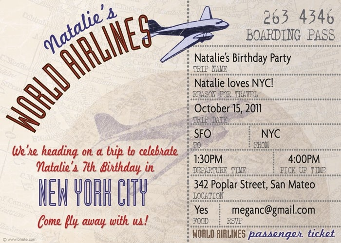 15 best bon voyage images on Pinterest Farewell parties, Going - airplane ticket invitations