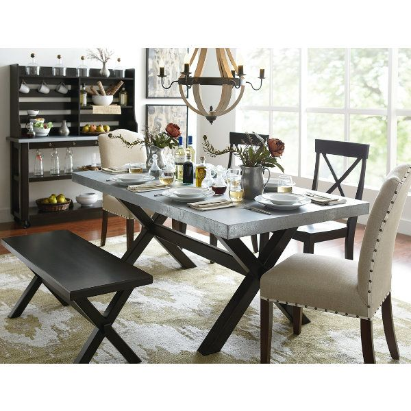 Keaton Dining Collection At Art Van   Zinc Table Top