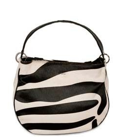 """Chimpel """"MILY"""" Leather Slouch Handbag. Zebra embossed leather. Cape Town, South Africa"""