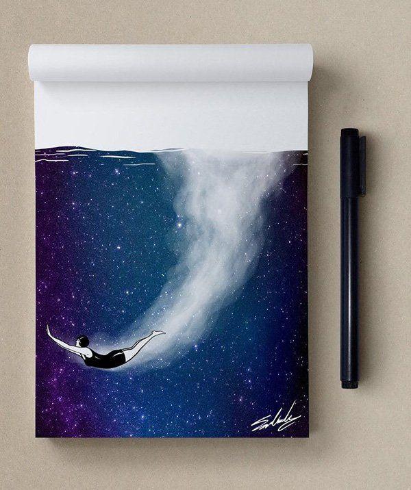 depth - Stars Themed Illustrations by Muhammed Salah