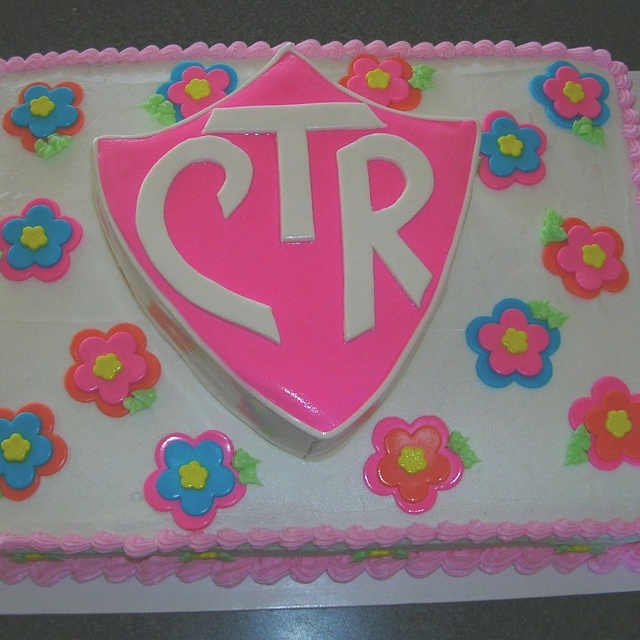 Girls CTR cake. This one has been popular for baptisms.
