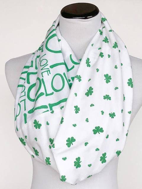St Patrick's Day Scarf Love Irish Scarf Shamrock scarf