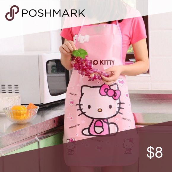 Hello kitty plastic apron Adult size hello kitty Other