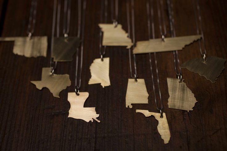 Robinson Lane State Shape Necklaces Cute!
