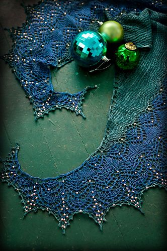 Fragile Heart.  Pattern is from boo knits but looks totally different in this intense jewel colorway.