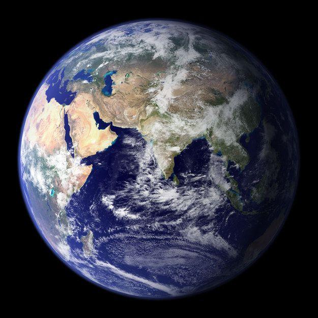 Nuestro hermoso planeta Tierra.