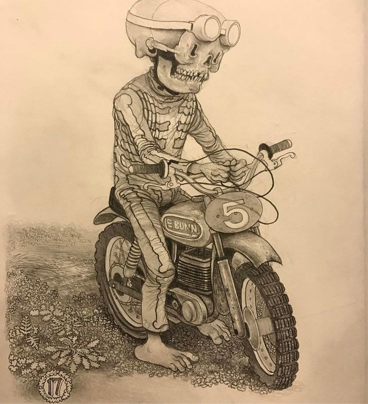 """2,506 Likes, 25 Comments - Matt Gordon (@mattgordon_paintings) on Instagram: """"Pinched at the Jelly Pits~ graphite in moleskine #drawing #motocross #motorcycle #flattire This one…"""""""