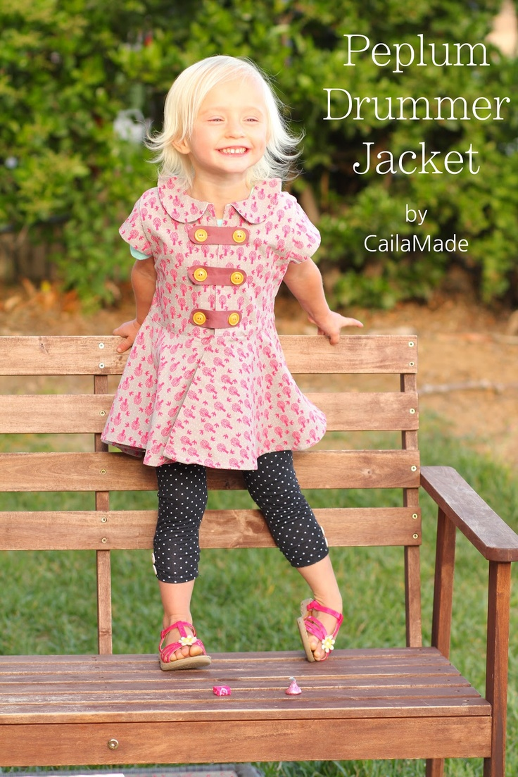Peplum Drummer Jacket: Cute end of summer or fall jacket for girls