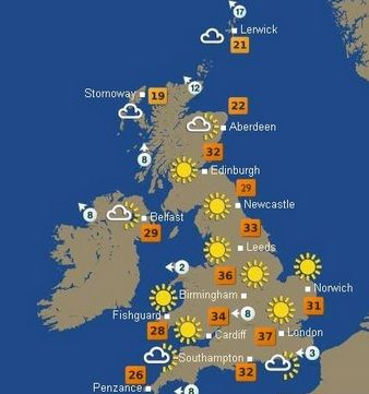 22 best uk summer weather forecast 2014 images on weather forecast ireland and range