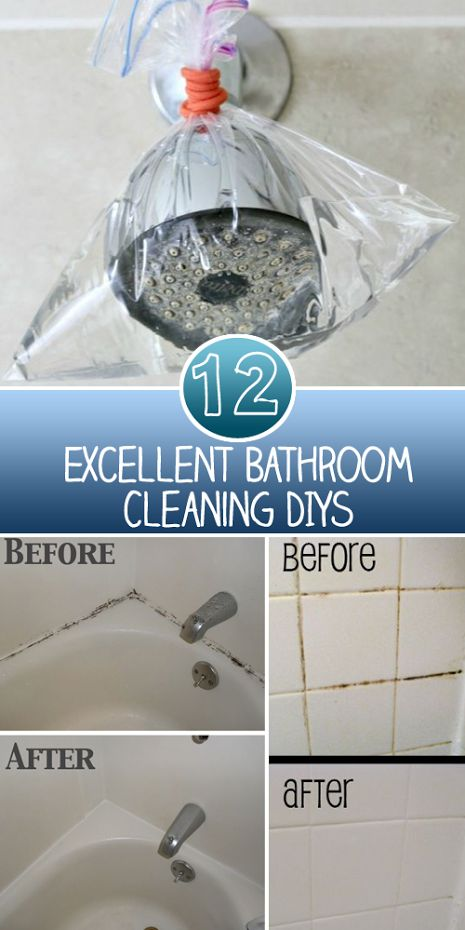 12 Excellent Bathroom Cleaning DIYs