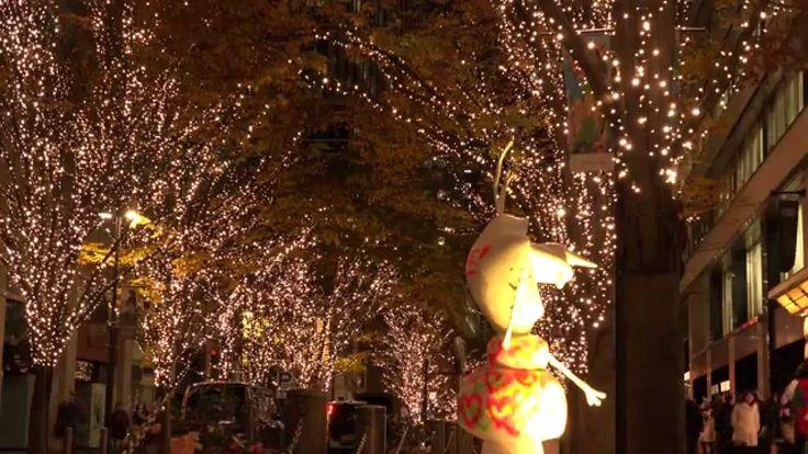 [4K] 丸の内仲通り イルミネーション2014 Marunouchi-naka-doro illumination2014