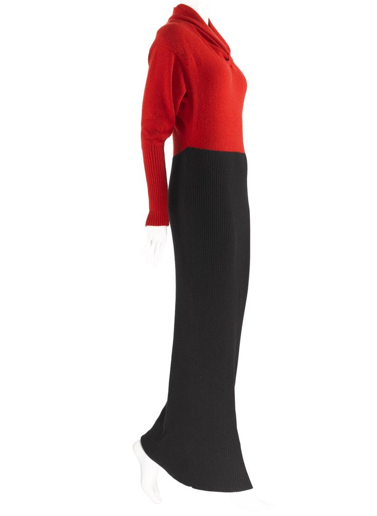 Dress, cashmere, Jean Muir designer, Scottish, 1988