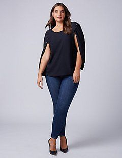a8f2392bf34a6b Amp up your look with Lane Bryant s plus size blouses and dressy tops. Go  from work to weekend with our versatile plus size peasant tops and other  dressy ...