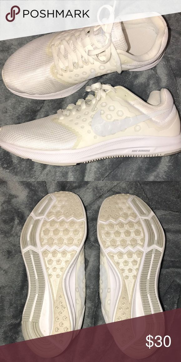 white nikes women's shoe size 8 worn once. feels like a new shoe. Nike Shoes Athletic Shoes