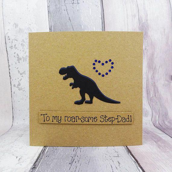 Funny Dinosaur Birthday Card For Dad Handmade T Rex Dinosaur Card