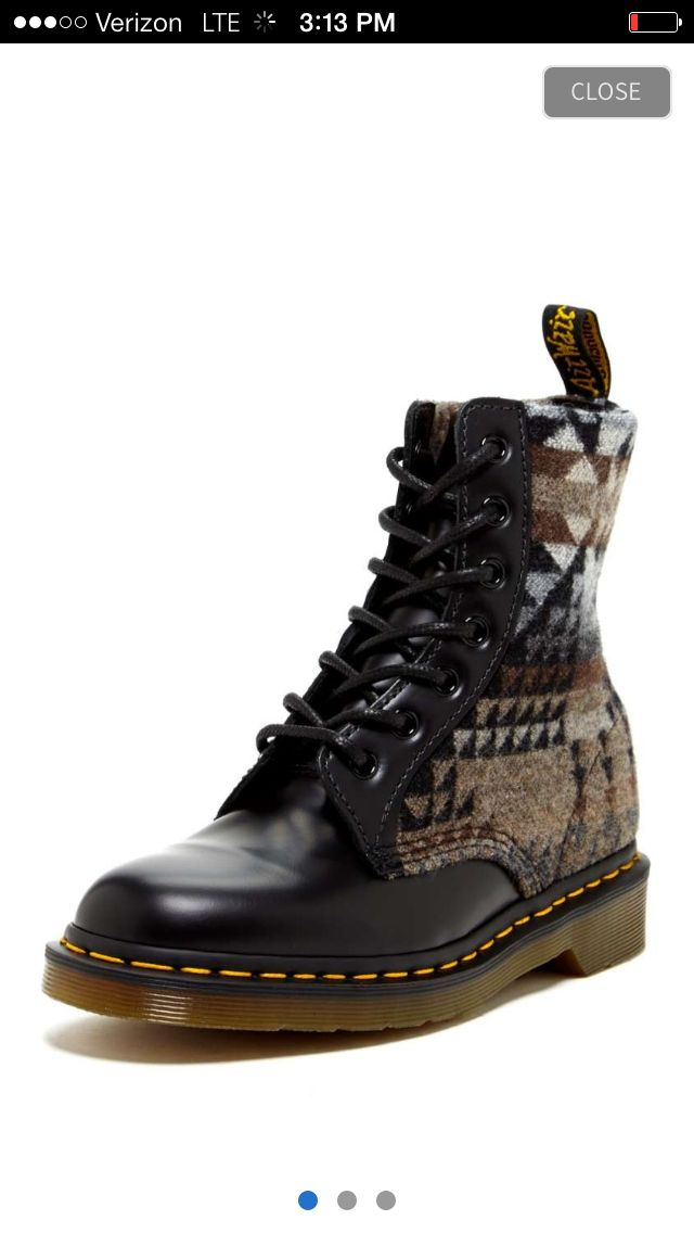 I wish these were my style...very Pendleton meets Dr. Martin.