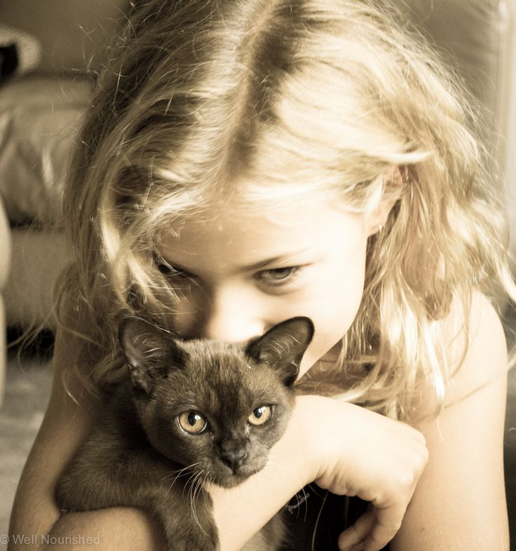 Children and pets - learning to love, learning to care
