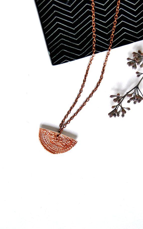 Gioiello di istruzione di effetto bronzo collana di Arualceramics
