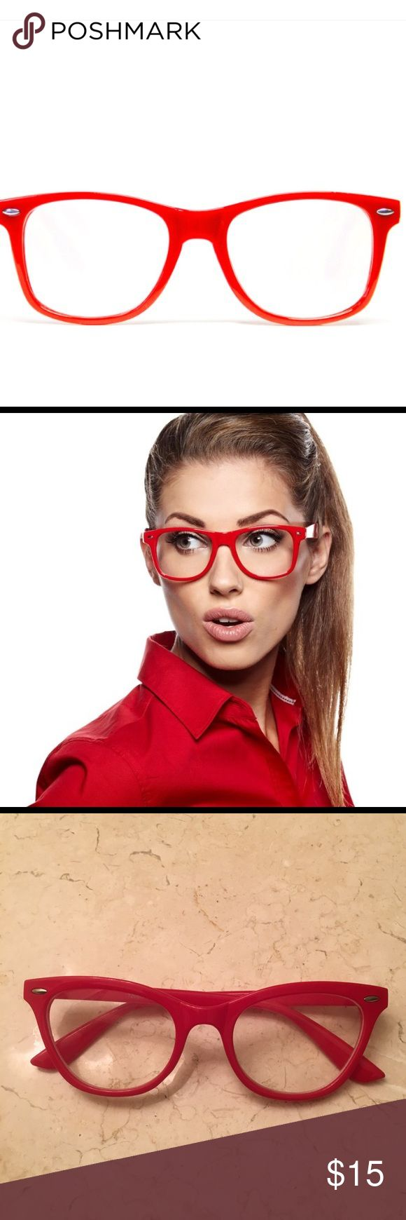 Red eye glasses These glasses are so hot and stylish. Remember Marilyn Monroe had a pair. Says7206C on inside. Fun fun fun. Photo one not actual glasses just to show how they would look on a model. Accessories Glasses