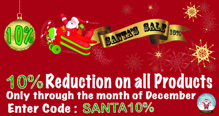 Even though we are closing today you can still use our Santa 10% discount until Thursday 31st December :),