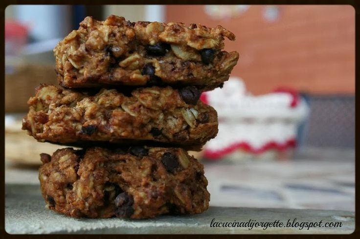 chocolate and oats cookies light