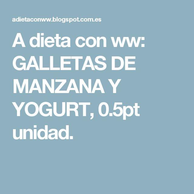 A dieta con ww: GALLETAS DE MANZANA Y YOGURT, 0.5pt unidad.