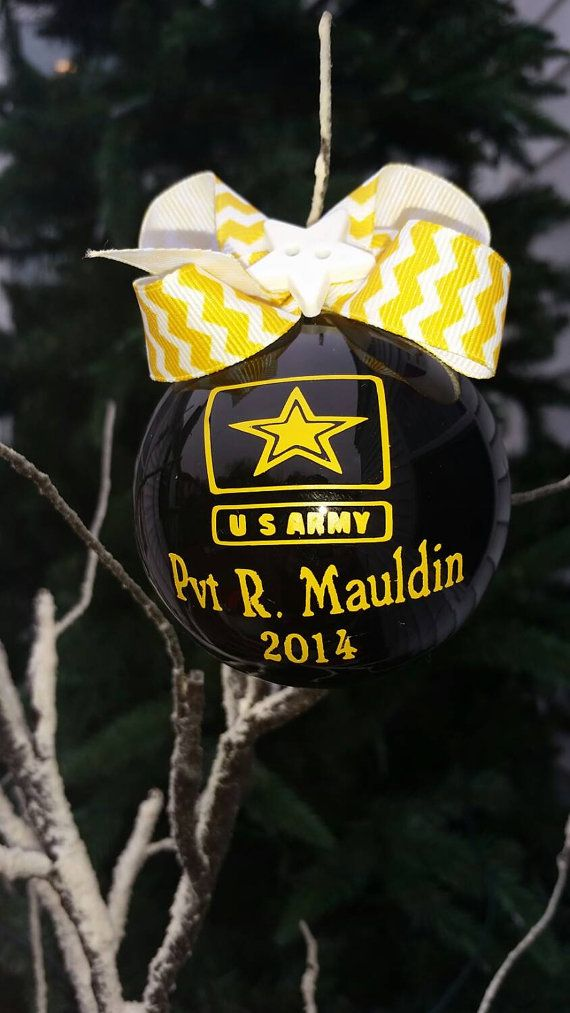 U.S. Army ornament personalized. by TjsUnlimited on Etsy