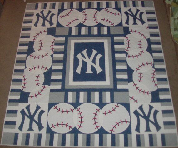 custom sports quilt by ApartmentQuilter on Etsy, $998.00