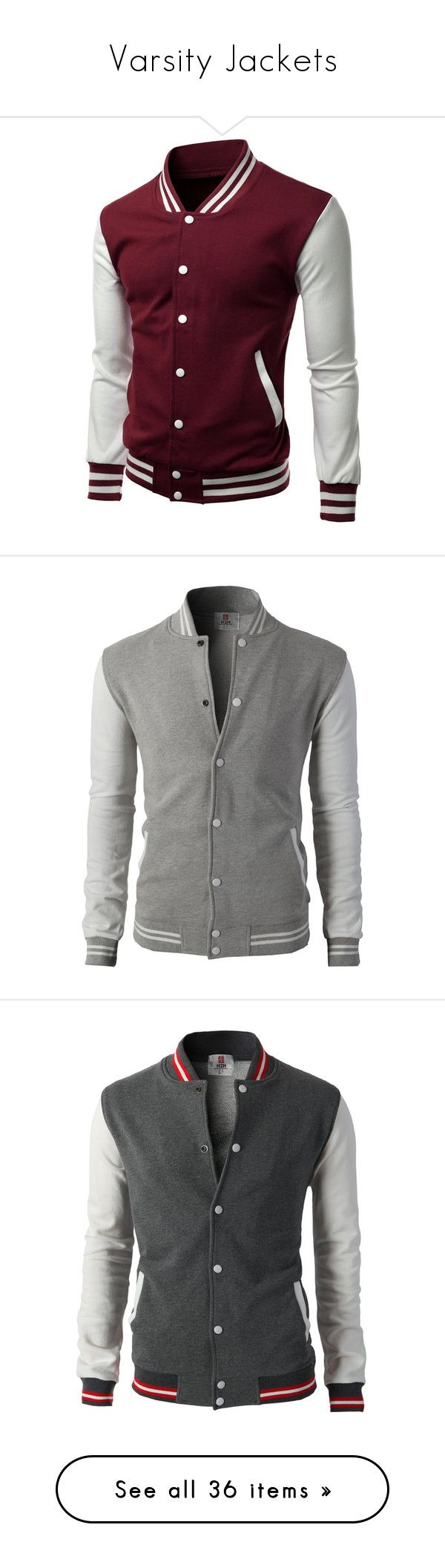 """Varsity Jackets"" by curiousgamer ❤ liked on Polyvore featuring men's fashion, men's clothing, men's activewear, men's activewear jackets, mens baseball jackets, mens activewear, men's outerwear, men's jackets, mens slim fit outerwear and mens cotton bomber jacket"
