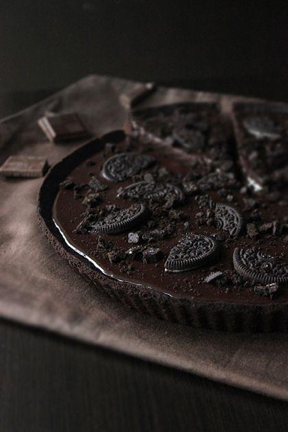 Oreo Chocolate Tart. #food