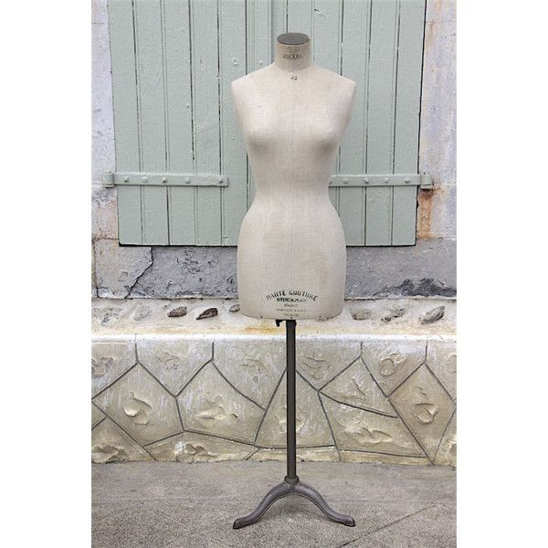 Antique French Stockman Mannequin, Dress Form Siegel Stockman, RARE... ($886) ❤ liked on Polyvore featuring home, home decor, tailor mannequin, metal home decor, metal dress form and metal mannequin