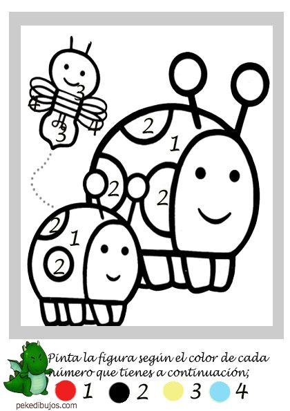 Dibujos por números para colorear y pintar