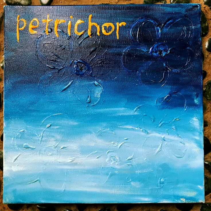 Petrichor  (n.) the smell of the earth after rain  20x20cm acrylic on canvas by Ehses - Sessa Xuanthi