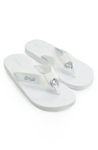 CATHY'S CONCEPTS 'Bride' Personalized Flip Flops available at #Nordstrom  These are soooo cute!!!!