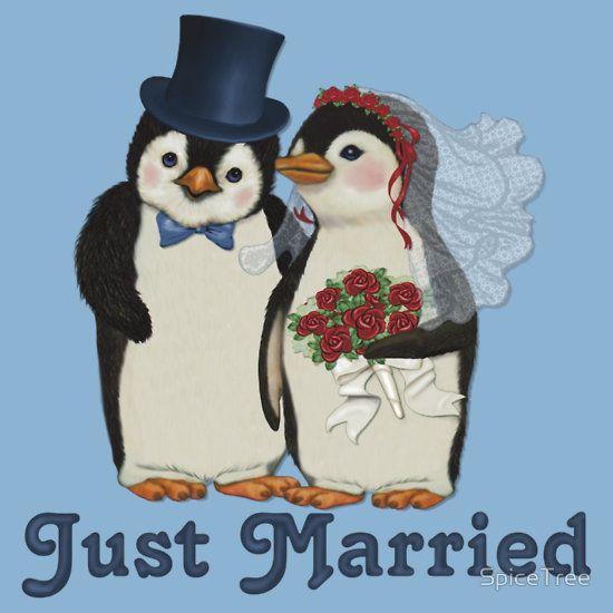 Penguin Wedding - Just Married